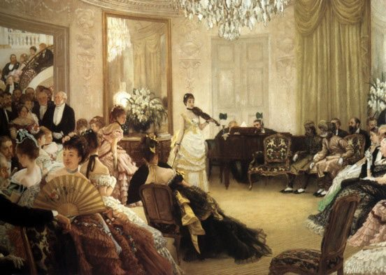 Hush! (The Concert) by James Tissot, painted 1875